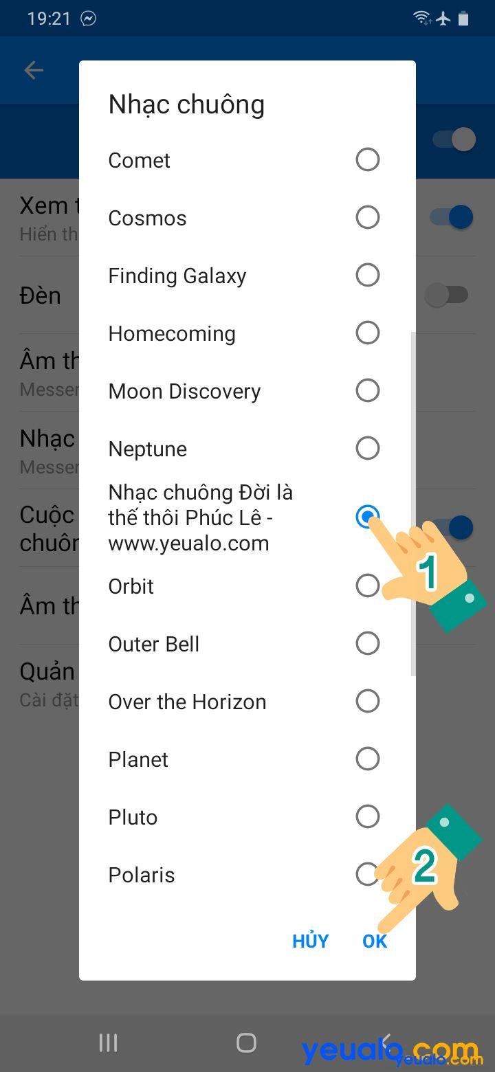 Cách cài nhạc chuông cuộc gọi đến trên Messenger 5
