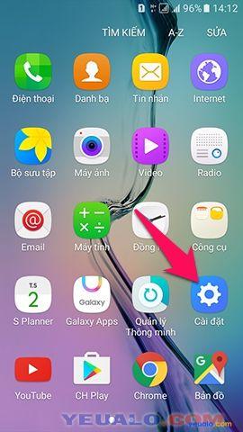 Cách cài mật khẩu khóa màn hình cho điện thoại Samsung Galaxy 1