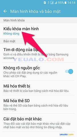 Cách cài mật khẩu khóa màn hình cho điện thoại Samsung Galaxy 3