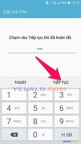 Cách cài mật khẩu khóa màn hình cho điện thoại Samsung Galaxy 5