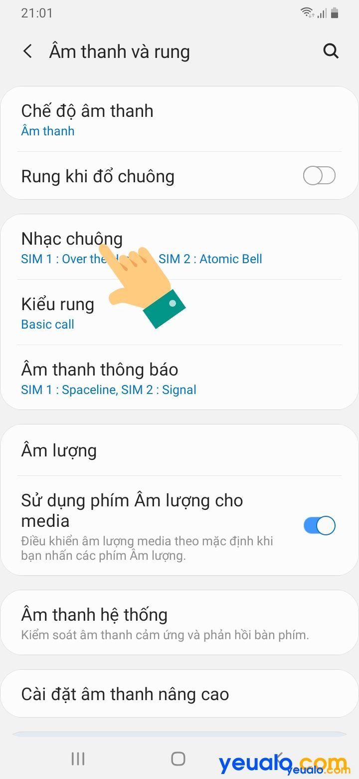 Cách cài nhạc chuông Samsung 3