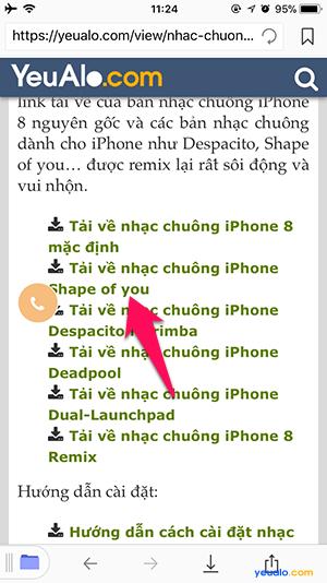 Cách cài nhạc chuông iPhone không cần máy tính 3