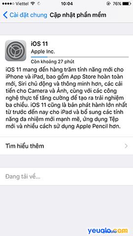 Cách cập nhật hệ điều hành iOS lên phiên bản mới nhất cho iPhone iPad 6