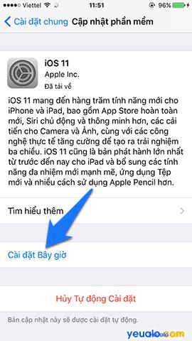 Cách cập nhật hệ điều hành iOS lên phiên bản mới nhất cho iPhone iPad 7