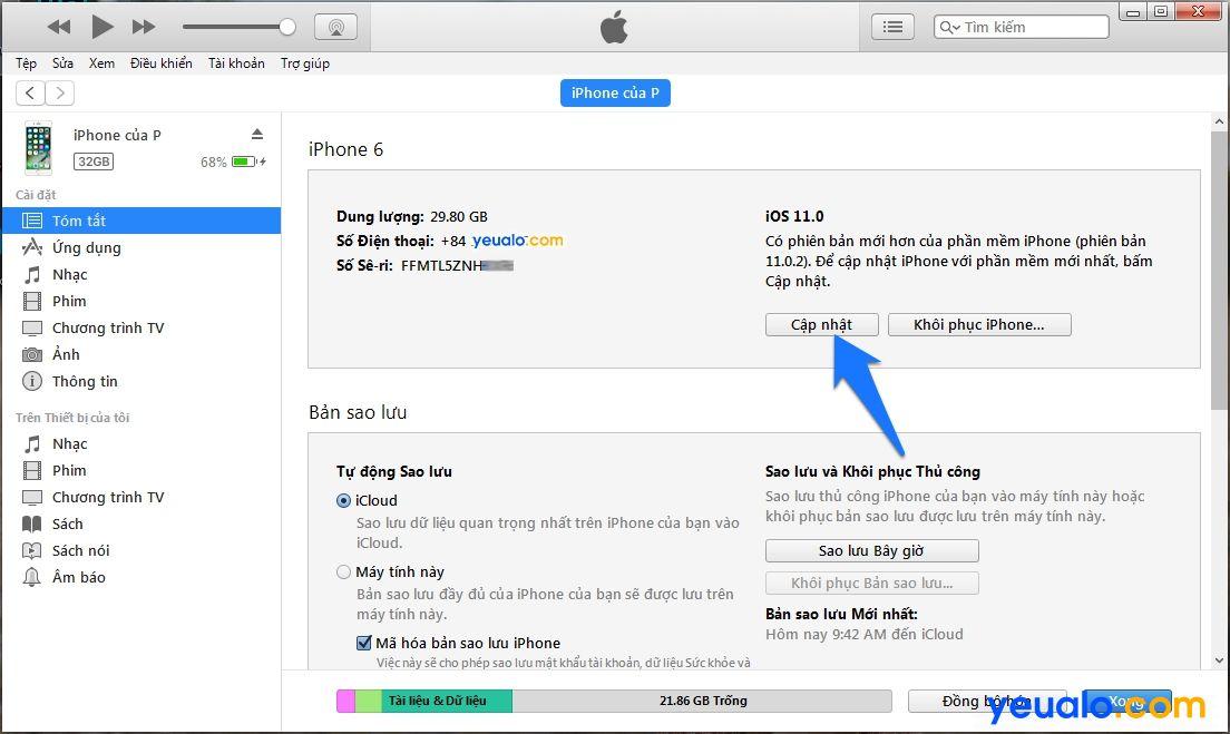 Cách cập nhật hệ điều hành iOS lên phiên bản mới nhất cho iPhone iPad 9