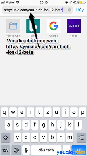 Cách cập nhật iOS 12 cho iPhone iPad 1