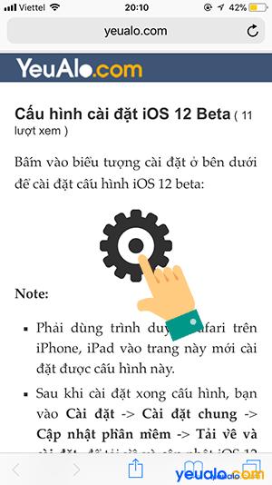 Cách cập nhật iOS 12 cho iPhone iPad 2