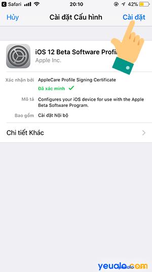 Cách cập nhật iOS 12 cho iPhone iPad 4
