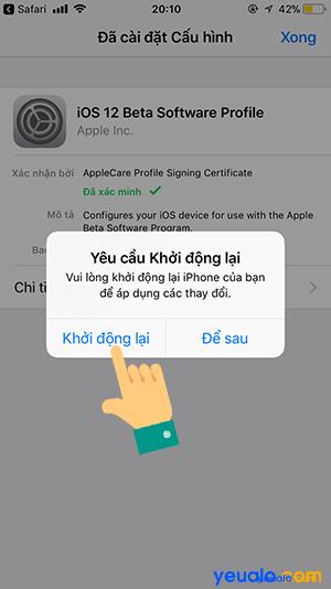 Cách cập nhật iOS 12 cho iPhone 7
