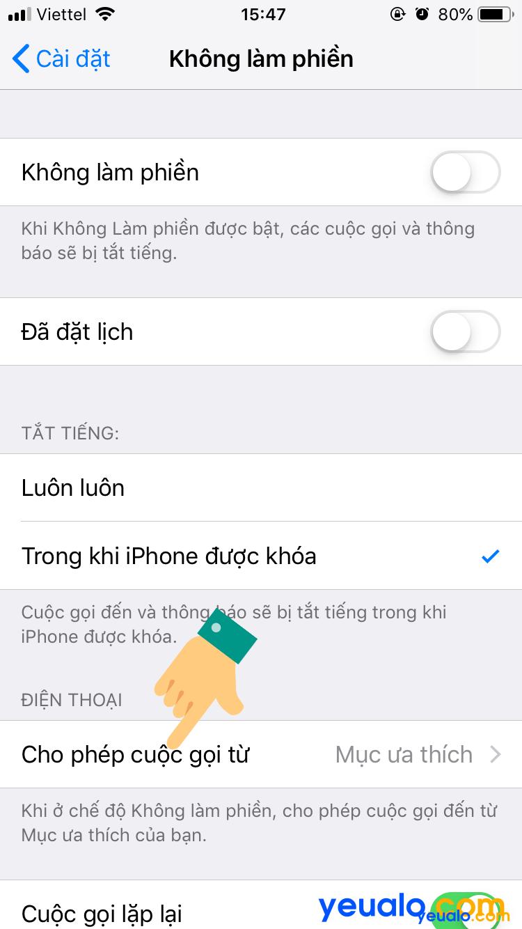 Cách chặn cuộc gọi ngoài danh bạ trên iPhone 3