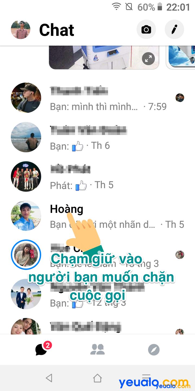 Cách chặn cuộc gọi trên Messenger Cách 2