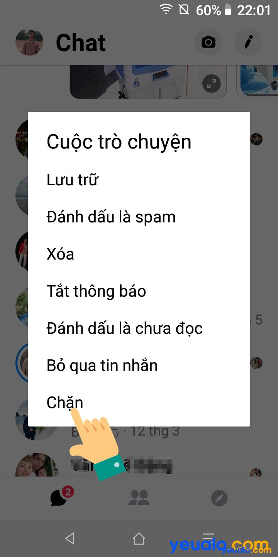 Cách chặn cuộc gọi trên Messenger Cách 2 3