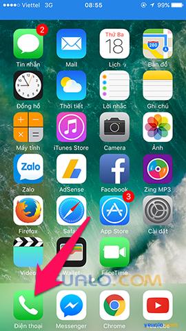 Cách chặn cuộc gọi trên điện thoại iPhone 1