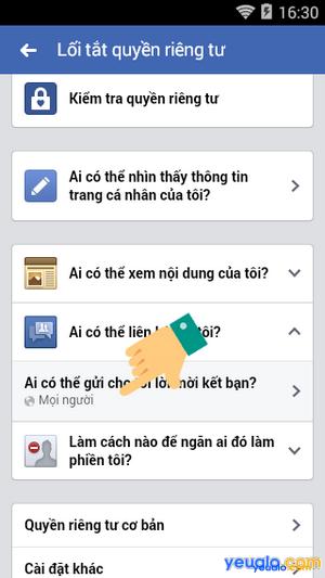 Cách chặn người lạ kết bạn trên Facebook 5