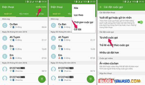 Cách chặn cuộc gọi, tin nhắn trên điện thoại Samsung J2, J3 Pro, J4, J5, J6, J7 Prime…
