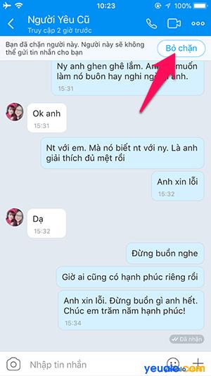 Cách chặn tin nhắn trên Zalo 4