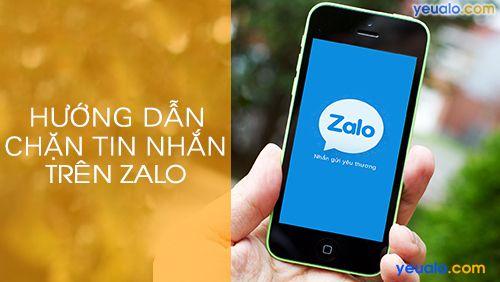 Cách chặn tin nhắn trên Zalo chặn tin nhắn từ người lạ
