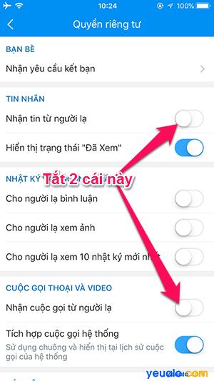Cách chặn tin nhắn từ người lạ trên Zalo 3