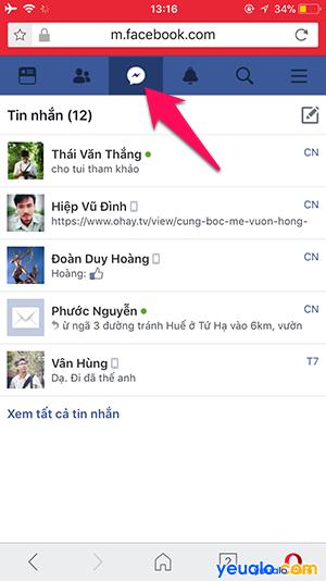 Cách nhắn tin Facebook mà không cần cài đặt Messenger trên điện thoại 3