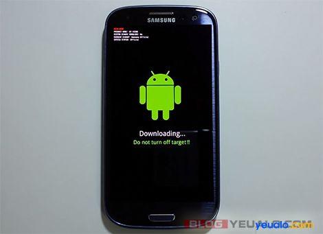 Cách chạy lại phần mềm cho điện thoại Samsung Galaxy 3