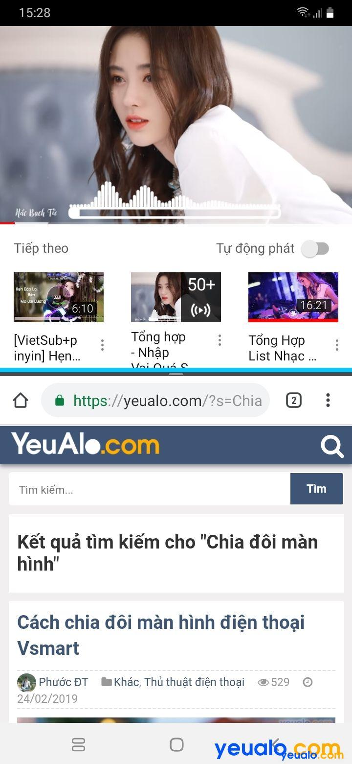 CCách chia đôi màn hình điện thoại Android 9 5