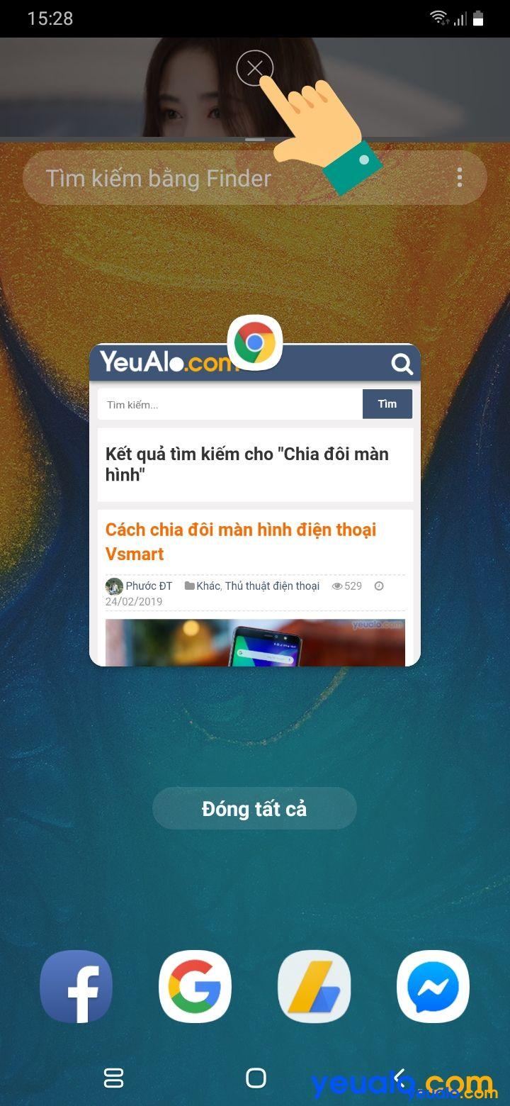 Cách chia đôi màn hình điện thoại Android 9 7