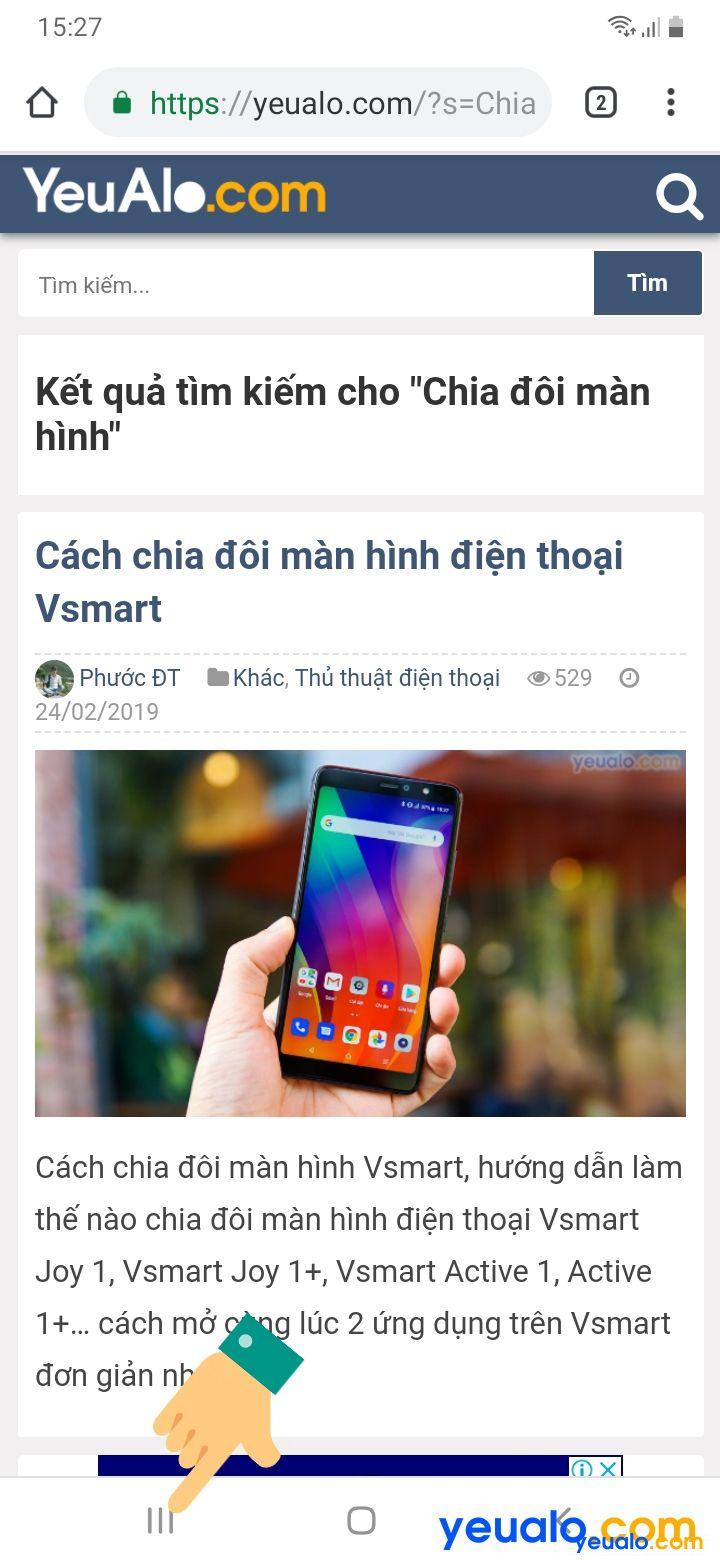 Cách chia đôi màn hình trên Samsung