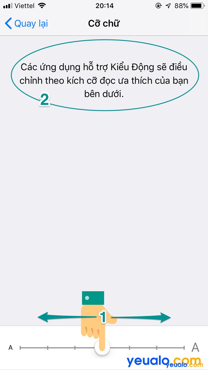 Cách chỉnh cỡ chữ iPhone 6 4