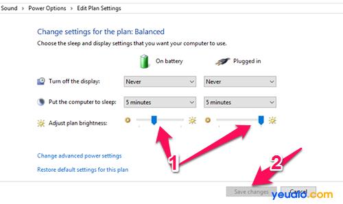 Cách chỉnh độ sáng màn hình máy tính 8