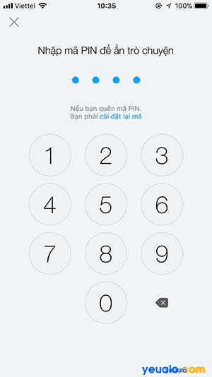 Cách chống đọc xem trộm tin nhắn trên Zalo 3