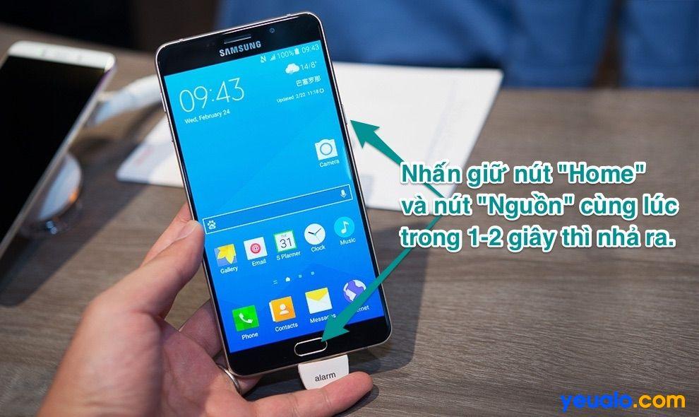 Cách chụp màn hình Samsung A9 Pro