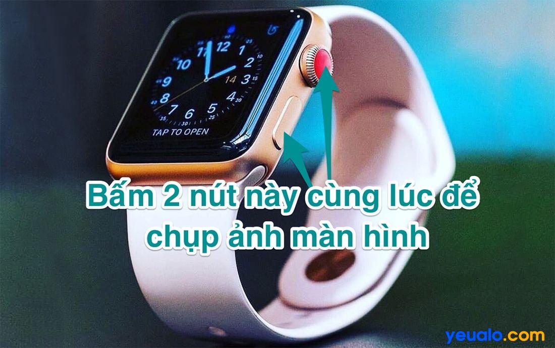 Cách chụp màn hình Apple Watch