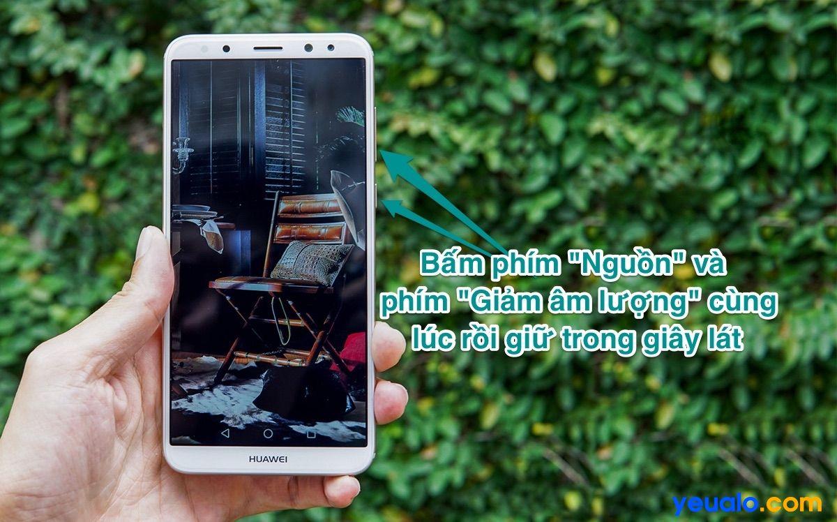 Cách chụp màn hình Huawei Nova 2i