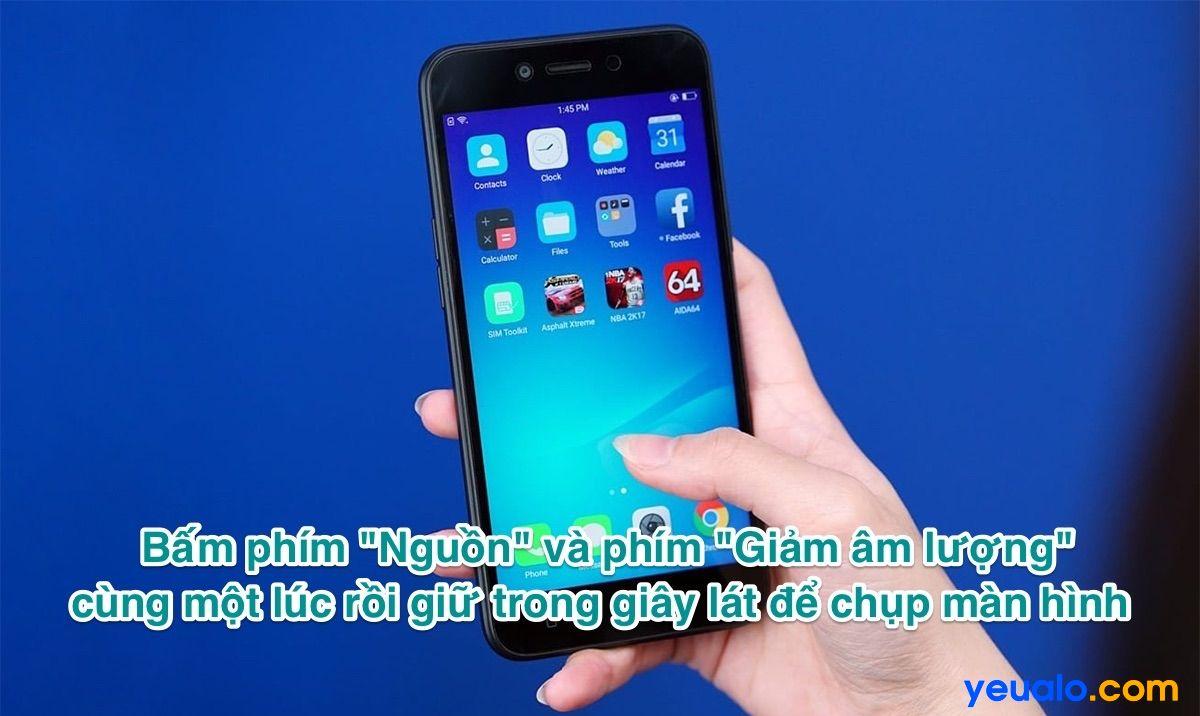 Cách chụp màn hình Oppo A71