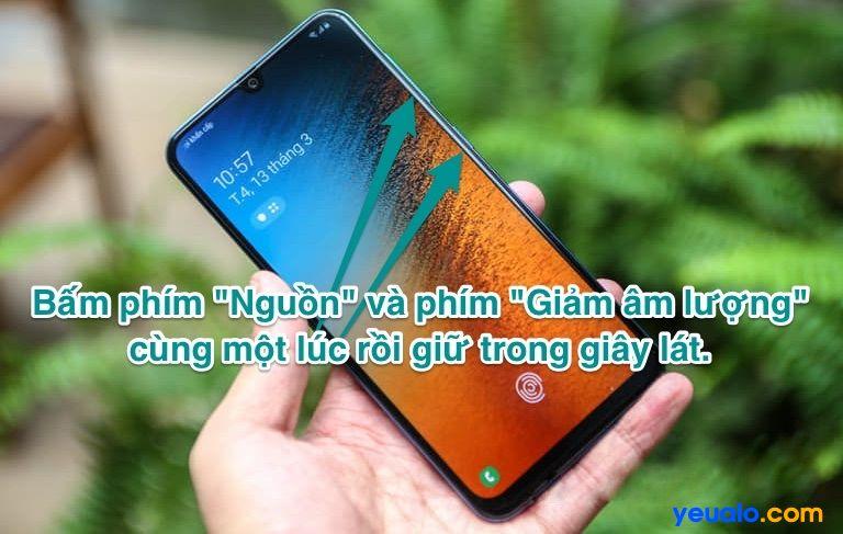 Cách chụp màn hình Samsung A51