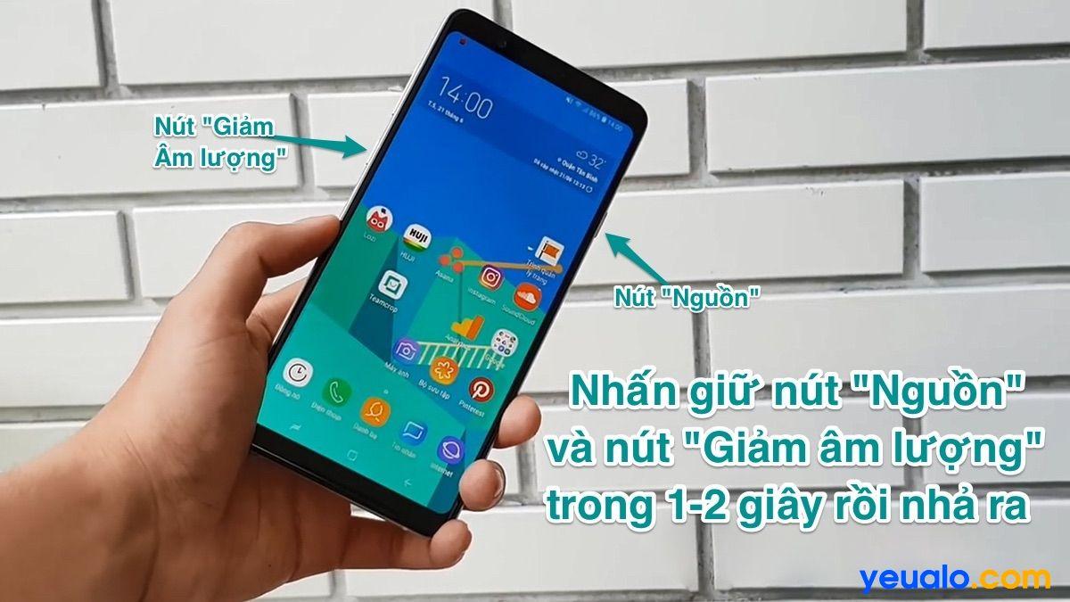 Cách chụp màn hình Samsung A8 Star