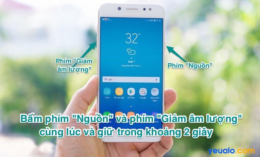 Cách chụp màn hình Samsung J7