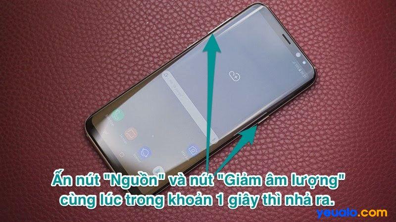 Cách chụp màn hình Samsung S8 Plus