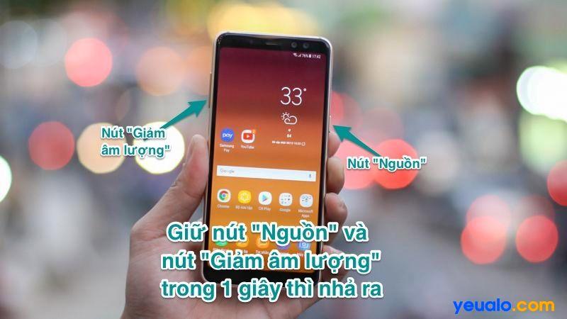 Cách chụp màn hình Samsung A7 2018