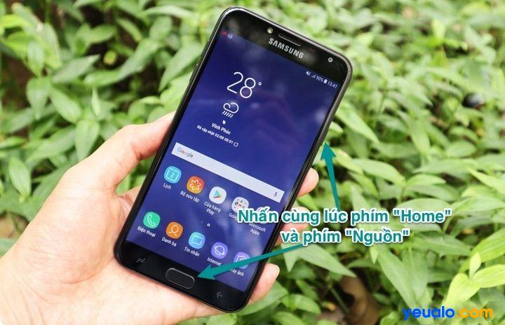 Cách chụp màn hình Samsung J4 2018