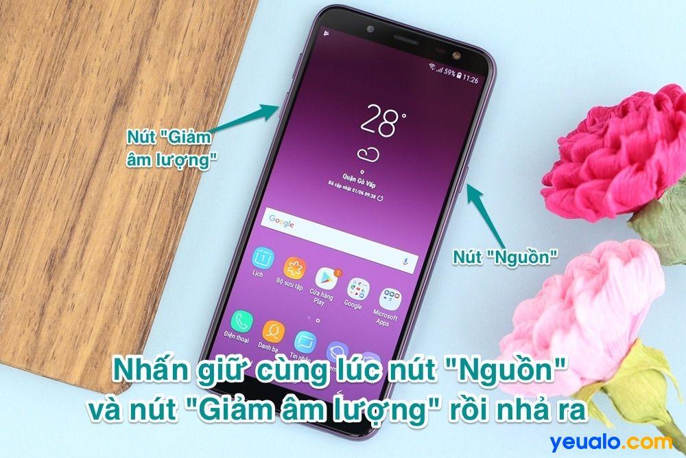 Cách chụp màn hình Samsung J6