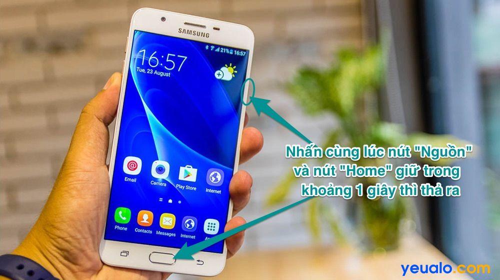 Cách chụp màn hình Samsung j7 Prime
