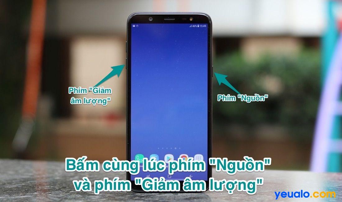Cách chụp màn hình Samsung J8