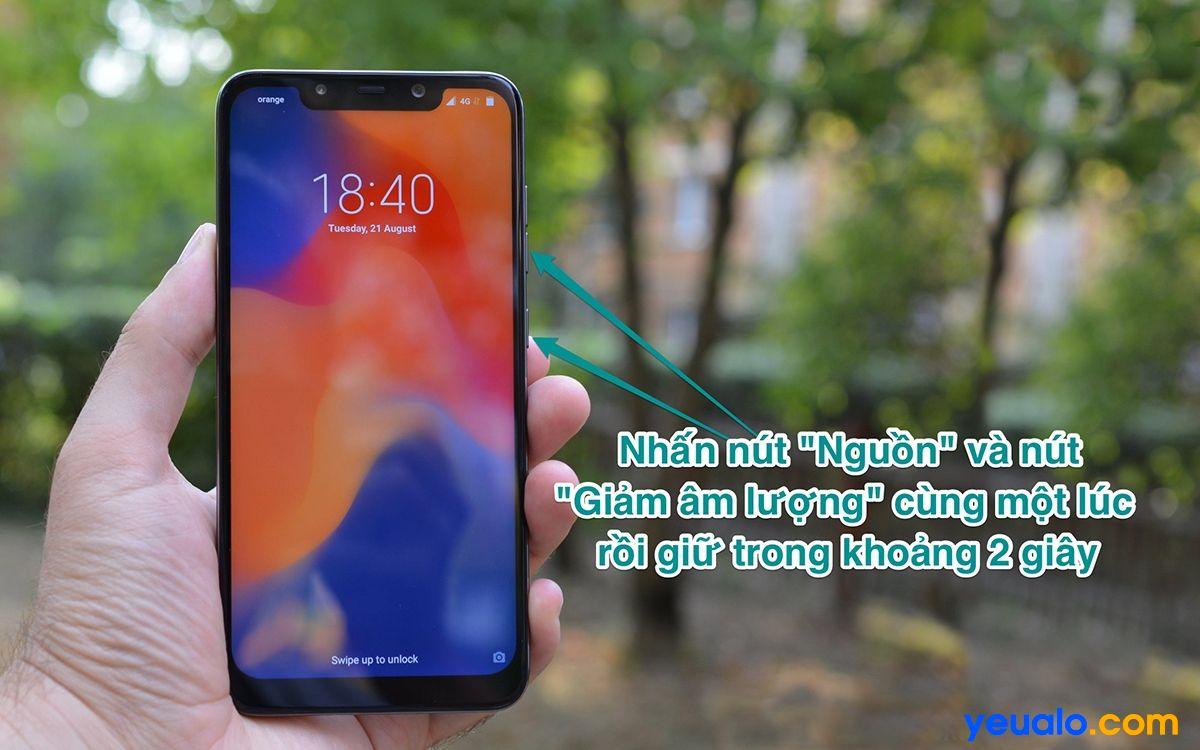 Cách chụp màn hình Xiaomi Pocophone F1