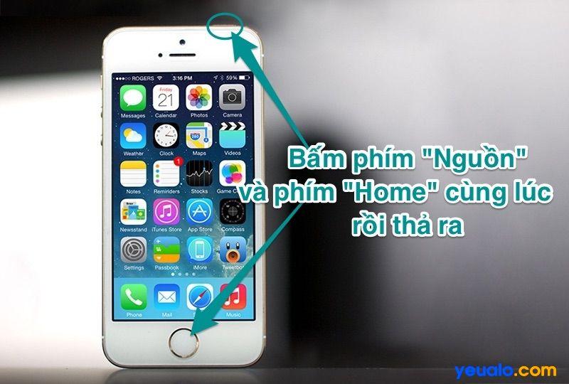 Cách chụp màn hình iPhone 5