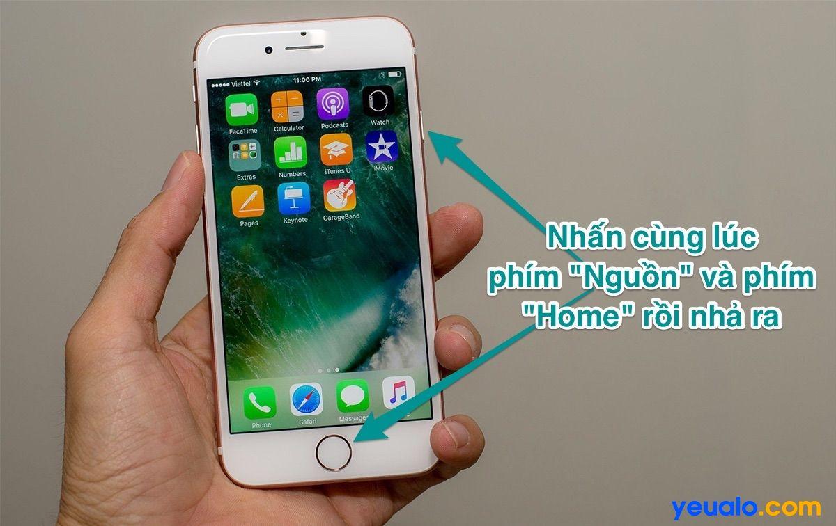 Cách chụp màn hình iPhone 6 Plus