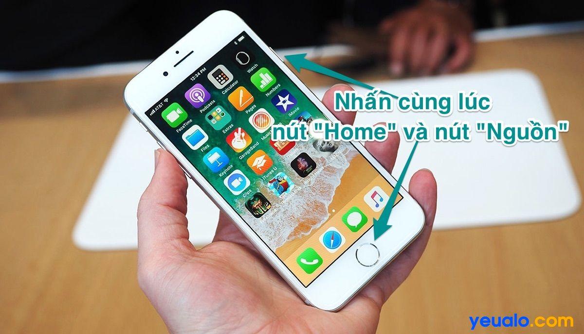 Cách chụp màn hình iOS 12