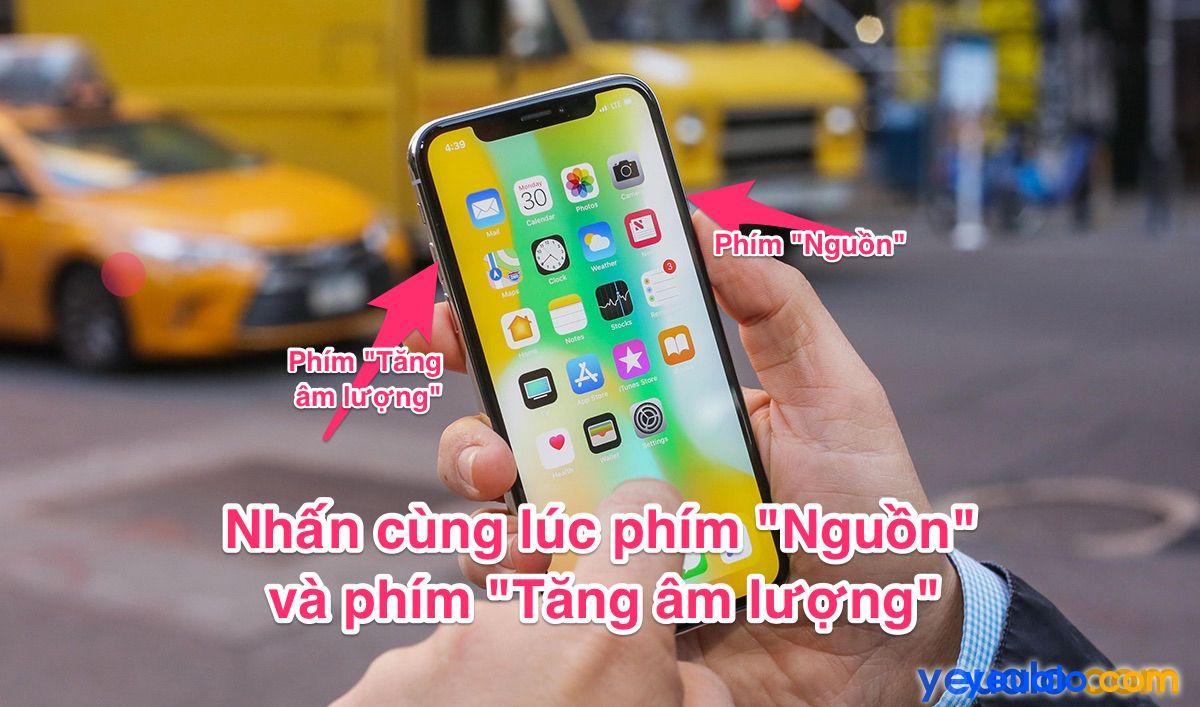 Cách chụp màn hình iPhone XR XS XS Max