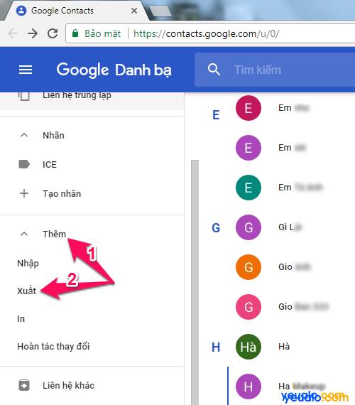 Cách chuyển danh bạ từ Gmail sang iCloud 1