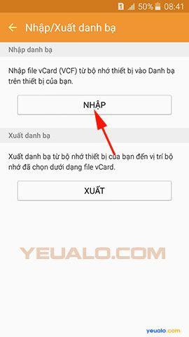 Cách chuyển danh bạ từ điện thoại Lumia sang điện thoại Samsung Galaxy 10